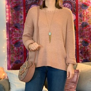 Light pink knit sweater